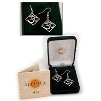 The AUM Earrings, Silver