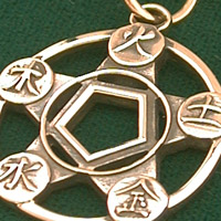 The Five Elements Pendant, 14k Gold
