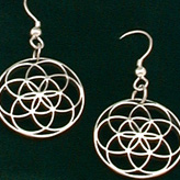 The Seed of Life Earrings, Silver
